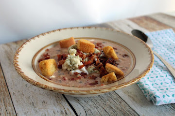 Bean Bacon Blue Cheese Tomato Soup Recipe