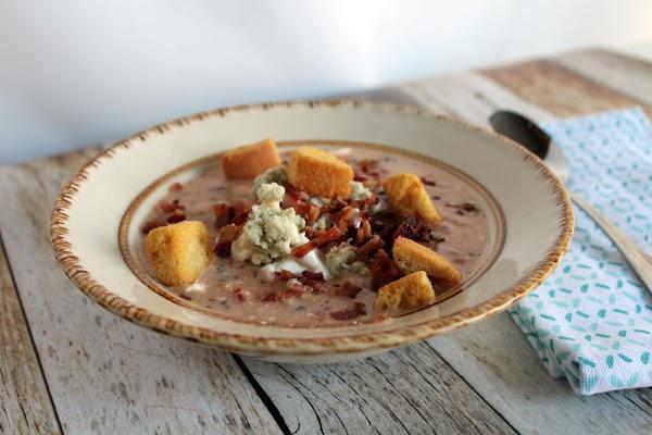 Bean Bacon Blue Cheese Tomato Soup Recipe