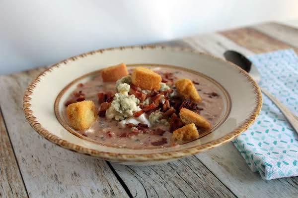 Bean Bacon Blue Cheese Tomato Soup