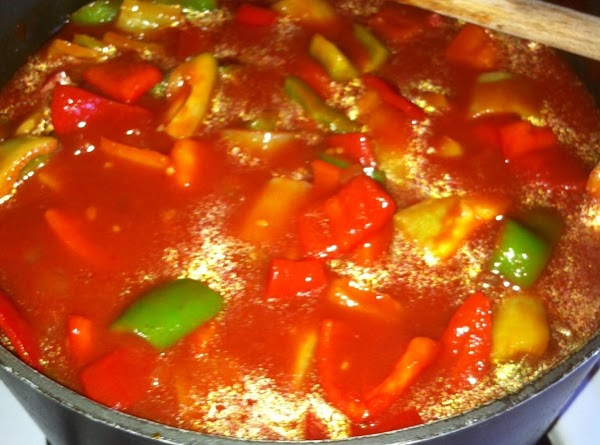 Prepare mock sauce & peppers if you do not have the canned peppers. The...