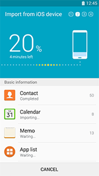 Samsung Smart Switch Mobile - screenshot