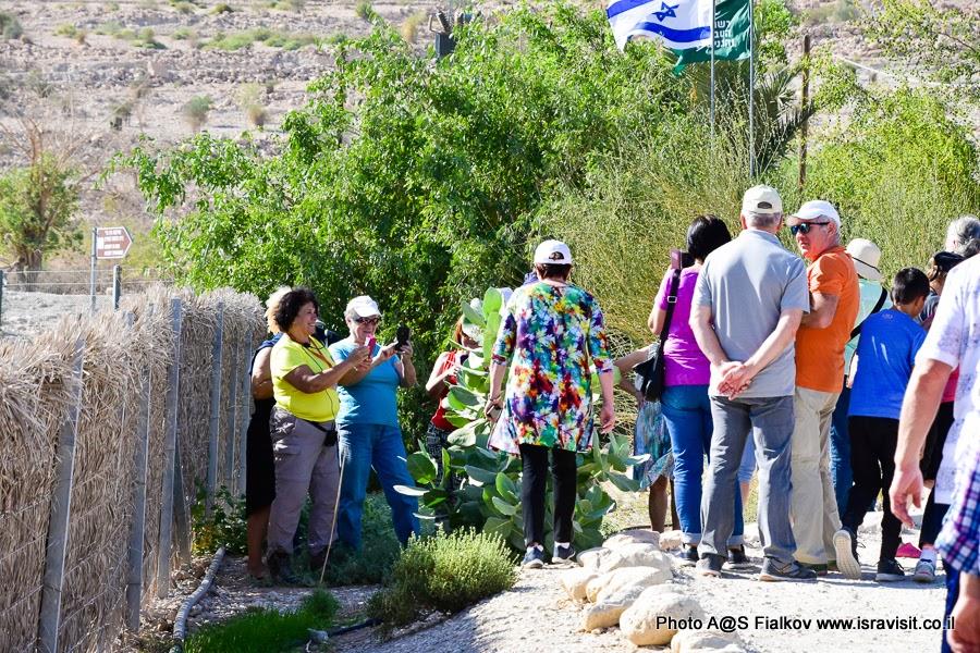 На экскурсии с гидом в Израиле Светланой Фиалковой. В кибуце Эйн Геди.
