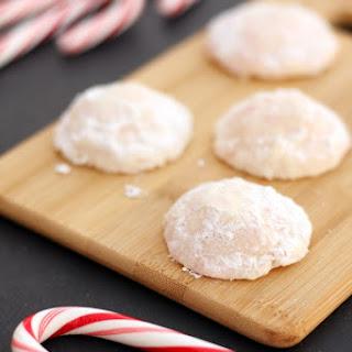 Gluten-Free Peppermint Snowball Cookies