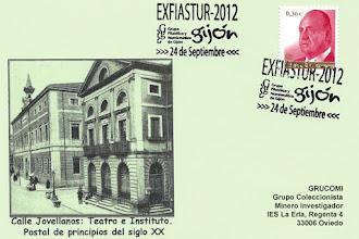 Photo: Matasellos de la EXFIASTUR celebrada en Gijón en septiembre de 2012