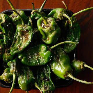 Grilled Padrón Peppers.