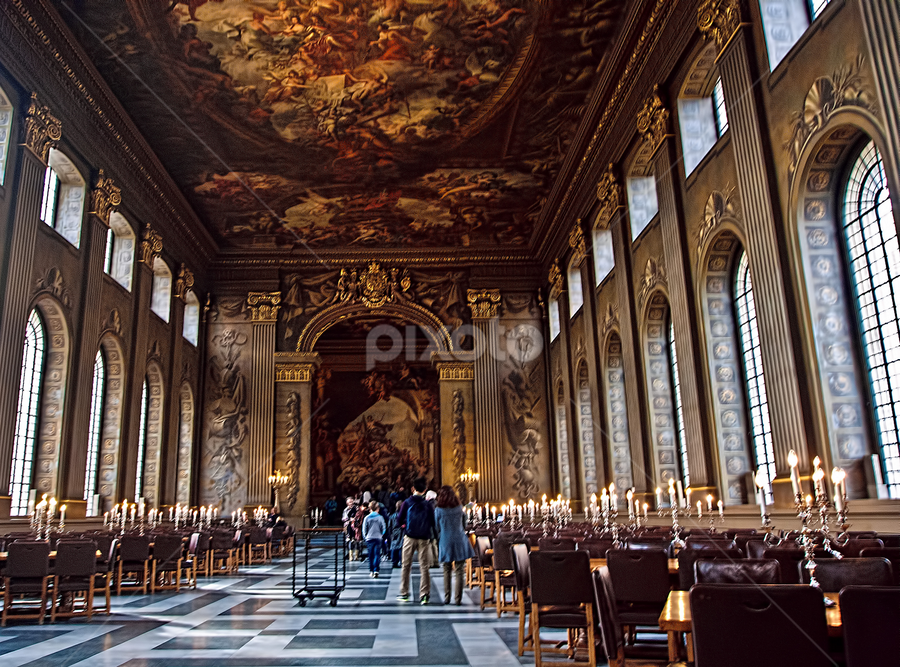 Painted Hall by Oliver Kluwe - Buildings & Architecture Other Interior ( planetvista, hdr, london, painted hall, greenwich )