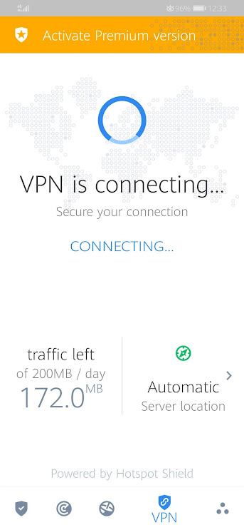 Bitdefender VPN Connecting