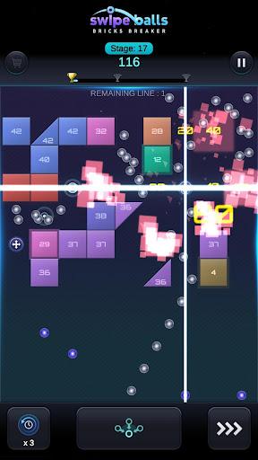 Bricks Breaker: Swipe Balls 1.0.6 screenshots 2