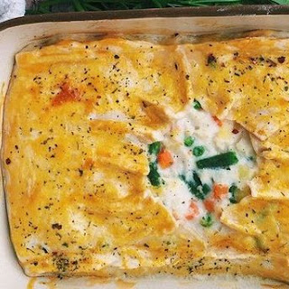 Tender Fish Pie With Vegetables.