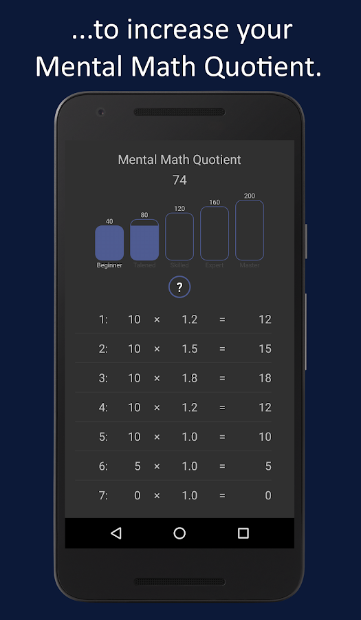Mental Math Master- screenshot