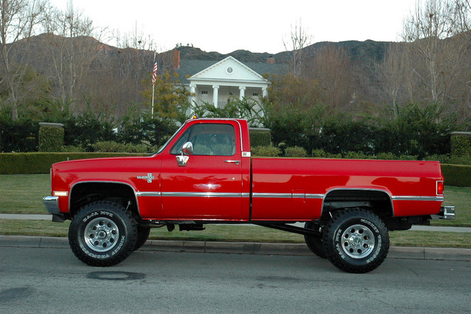 1986 Red Chevy Truck Hire Los Angeles