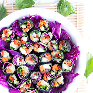 Raw Veggie Nori Rolls