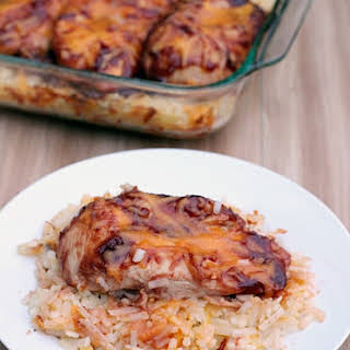 Barbecue Chicken Hash Brown Casserole.