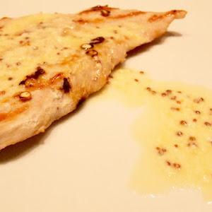 Turkey Steak with Mustard Sauce and Lime with semoule of Herbs