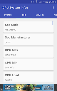 CPU Hardware and System Info Screenshot