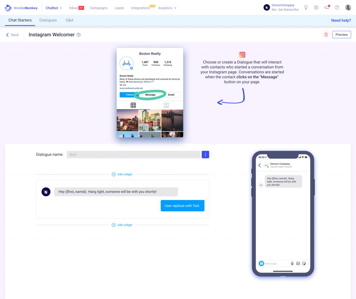 Instagram Messenger Marketing Automation Tools