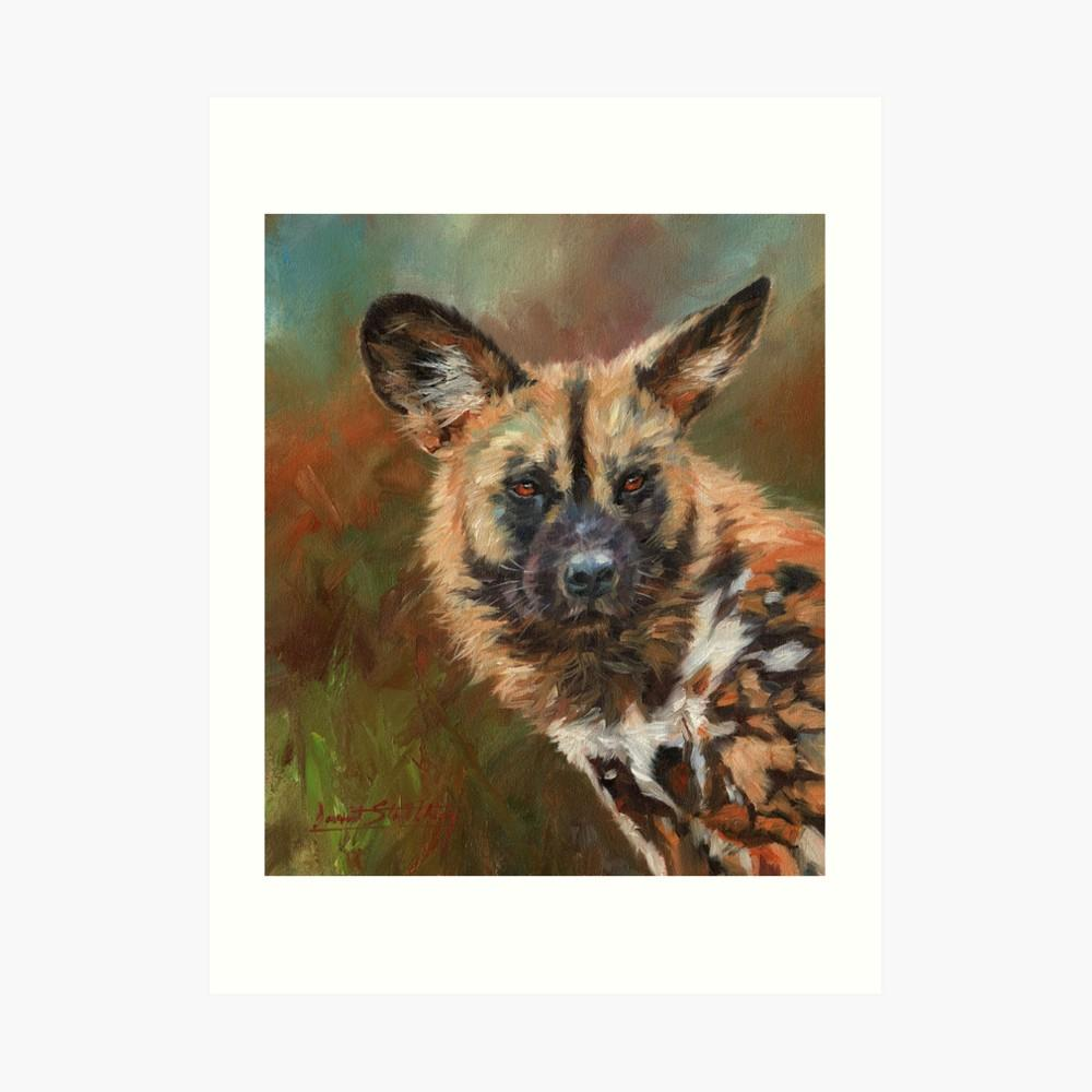 Image result for hyena  oilpainting small size