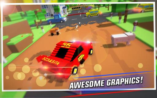 Crossy Brakes : Blocky Toon Racer screenshots 1