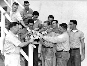 Photo: Sailors from the Photo lab contribute funds to the USS Arizona Memorial fund.