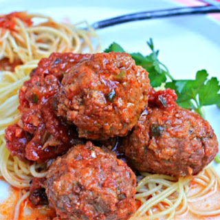 Grilled Spaghetti and Meatballs