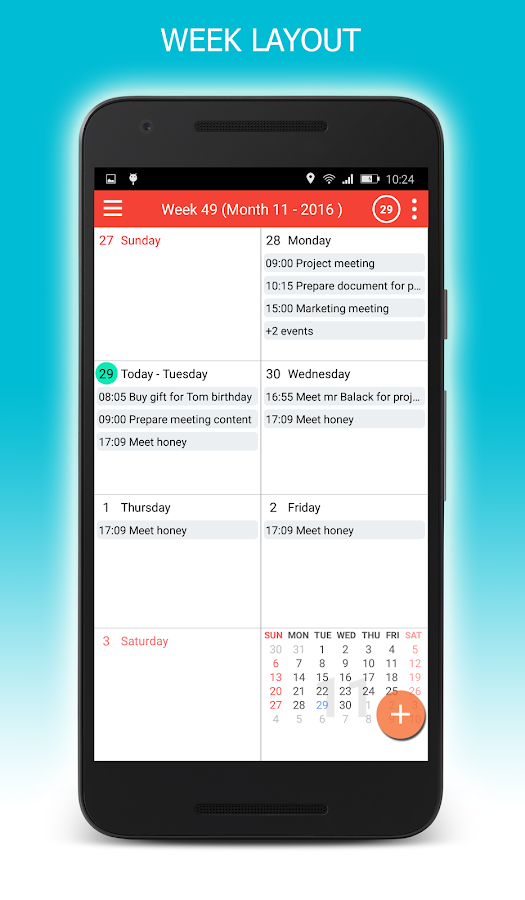 CalendarDC: Google Calendar sync and more- screenshot