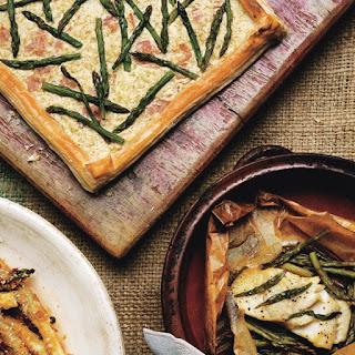 Asparagus-Ricotta Tart with Comte Cheese.