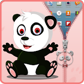 Panda Zipper Screen Lock