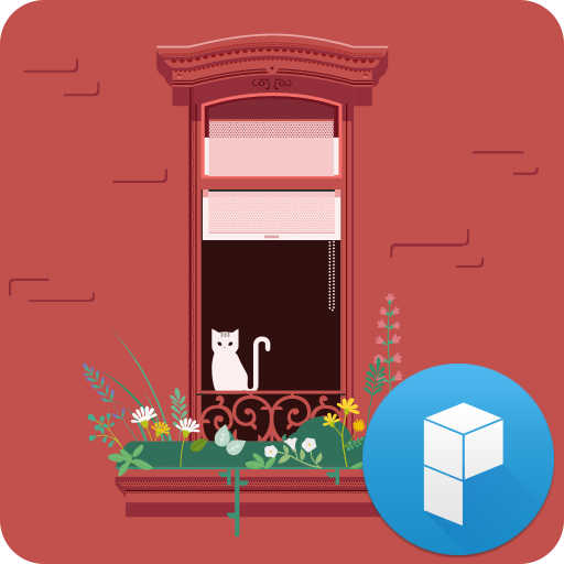 Cat and Window Launcher Theme LOGO-APP點子