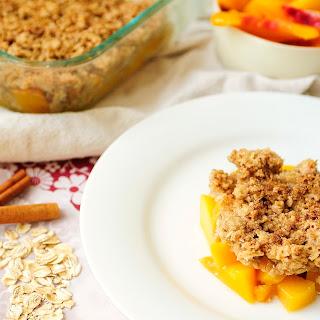 Quinoa Peach Cobbler
