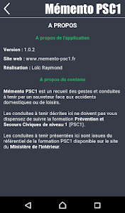 Mémento PSC1 screenshot 3