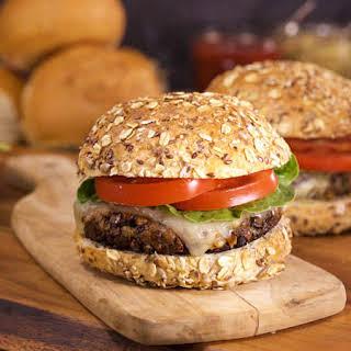Maria Menounos' Portobello Mushroom Burger with Melted Gruyère on a Multigrain Bun.