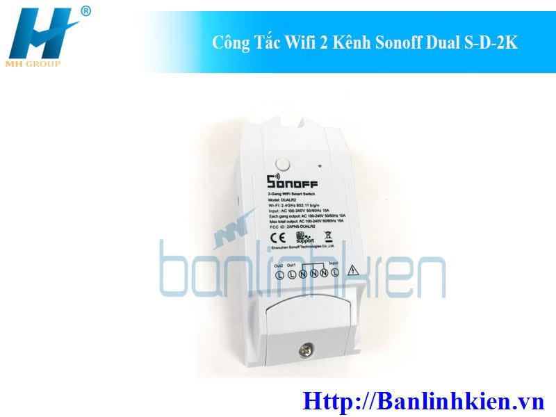Công Tắc Wifi 2 Kênh Sonoff Dual S-D-2K