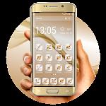 Launcher Theme 2018 Golden Homescreen