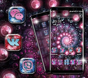 Neon Spiral Circle Launcher Theme 3