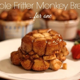 Apple Fritter Monkey Bread - for one!