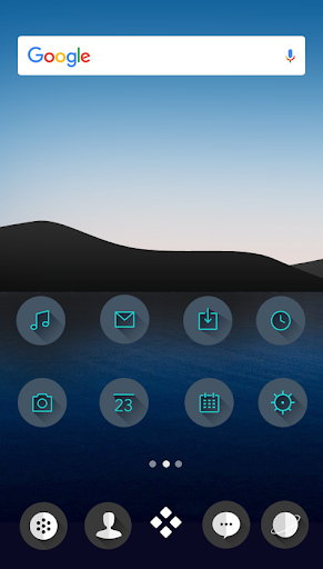 M Theme - Dark Green Icon Pack