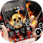 Rock Skull Graffiti Theme Icon