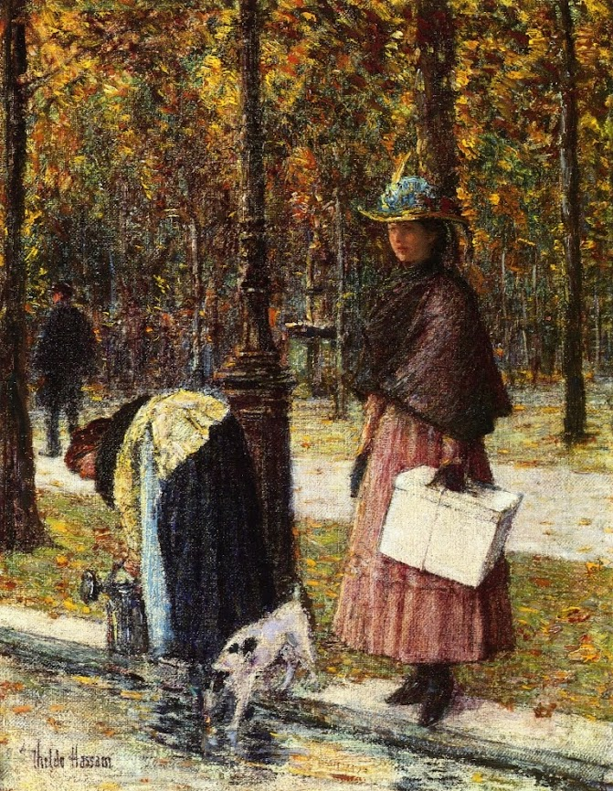 Evening, Champs-Elysees by Frederick Childe Hassam - c. 1898.