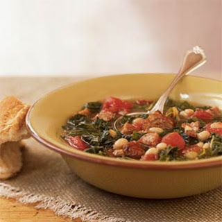 Sausage, Kale, and Bean Soup.