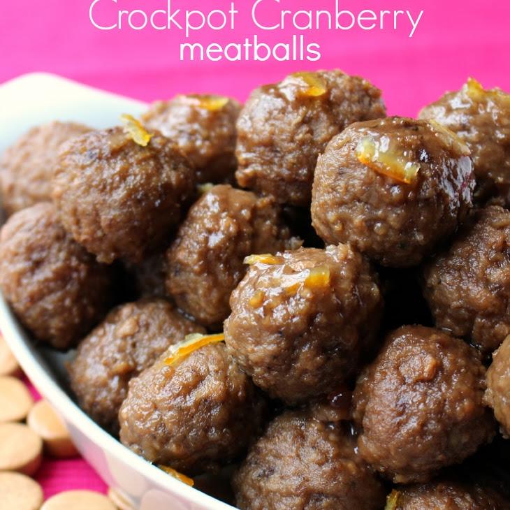 Zesty Cranberry Crockpot Meatballs Recipe