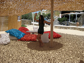 Photo: and there are also cool shade cabanas!