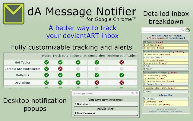 dA Message Notifier