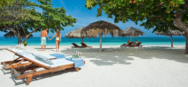 Sandals Montego Bay in Jamaica is offering savings of up to 65% off bookings of at least three nights.