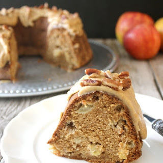 Apple Bundt Cake with Caramel Frosting