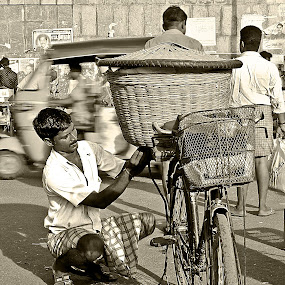 Busy Day by Ranjani Bharath - People Street & Candids