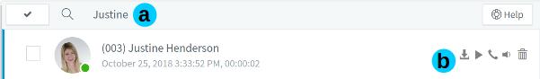 Funzione messaggi vocali nel Web Client 3CX.