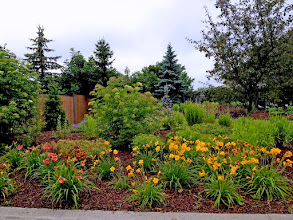 Photo: Public gardens should be as beautiful as any home garden. Spacing plants properly during the design phase saves money and ensures there won't be crowding when the garden matures.