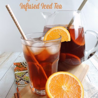 Orange & Cinnamon Infused Iced Tea.