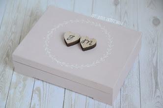 Photo: pudełko na obrączki pink rustic