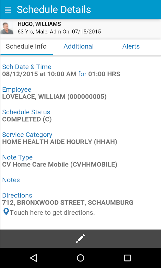 CareVoyant Mobile- screenshot